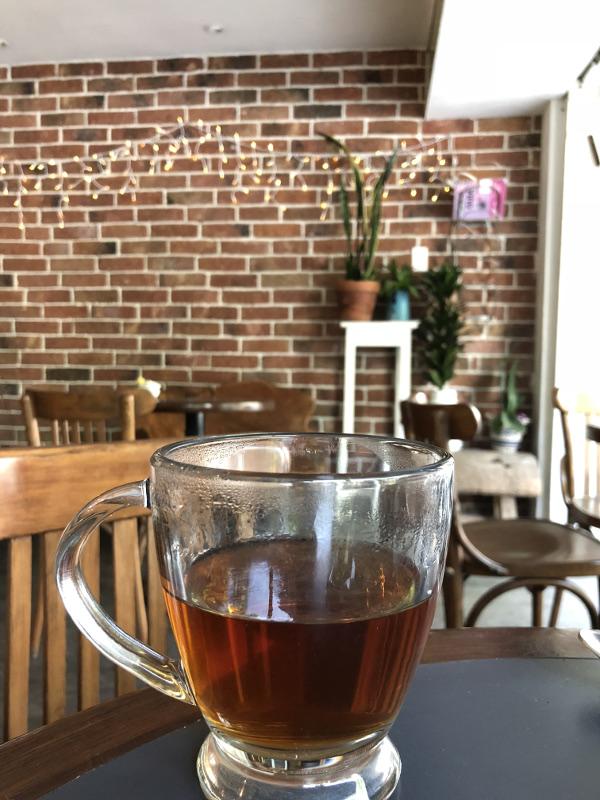esquina de té, taza de té